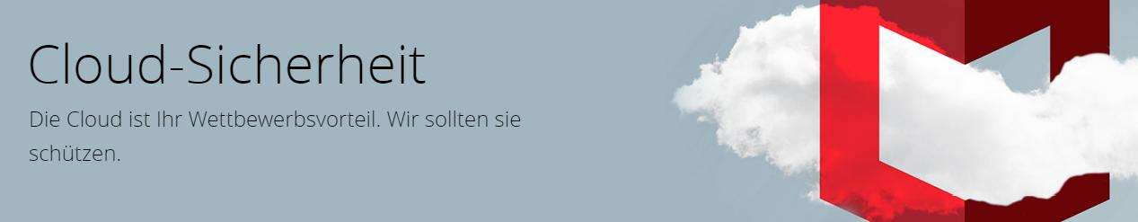 McAfee Cloud-Sicherheit Banner