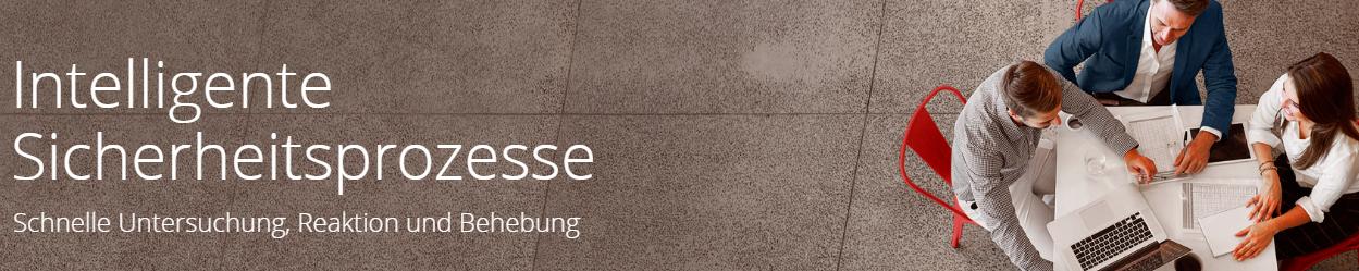 McAfee Intelligente Sicherheitsprozesse Banner