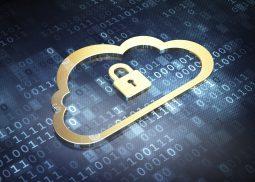 Cloud-Sicherheit Zeichen vor numerischem Code