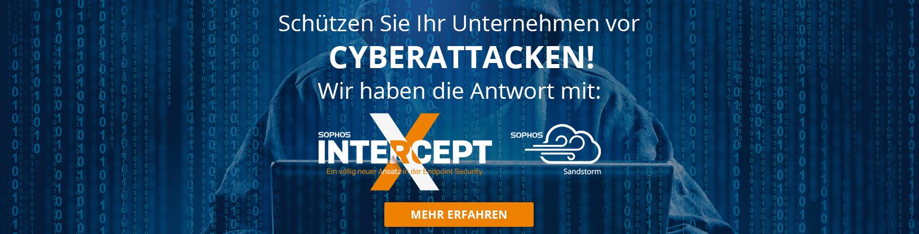 Schützen Sie Ihr Unternehmen durch Cyberattacken-Slogan